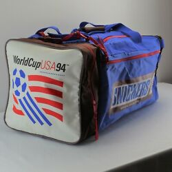 1994 Snickers World Cup Soccer USA Official Snack Food XL Duffel Gym Bag Case