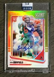 2018 Panini Honors Baker Mayfield Auto Rookie Score Gold Zone 18/25 Sealed Rc