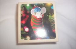QX 412-2  1981  Little Trimmers Stocking Mouse Hallmark