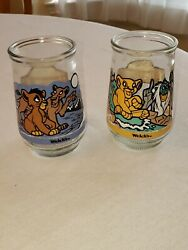 Welch's Jelly Jar Disney Lion King Ii Simba's Pride Juice Glasses 3 And 4