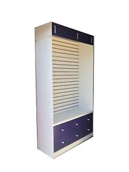 Retail Store Display Slatwall Rolling Units With Drawers - Quantity Discount