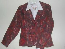 Women#x27;s party Cocktail Church Floral Coldwater Creek Tapestry Jacket M L PL PXL
