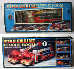 Rare Vintage 90's Fire Engine Huge 27 Truck Rescue Boom China Needs Repair