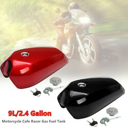 9L2.4 Gallon Universal Motorcycle Cafe Racer Vintage Fuel Gas Tank