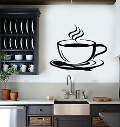Vinyl Wall Decal Cup Coffee House Original Taste Cafe Kitchen Stickers G1798