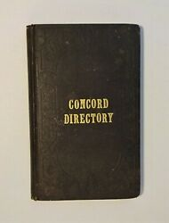 1853-1854 Concord Directory - New Hampshire Local Interest Guide, Map Illust Ads