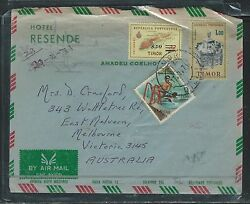 Timor Pp0309b 1971 A/m Revalued Fish Stamp + 2 Others To Australia