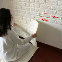 Premium PE Foam 3D Self Adhesive DIY Large Panels Wall Stickers Embossed Brick