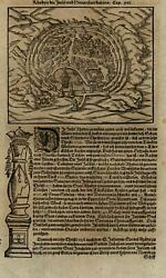 Rhodes Island Harbor Greece 1628 Munster Cosmography Wood Cut Print City View