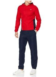 Menand039s Lacoste Tennis Sport Zip Track Jacket And Jog Pants Set Tracksuits Red