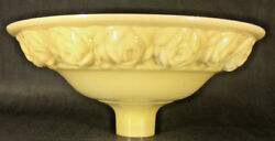 New 16 Antique Style Embossed Roses Nu-gold Torchiere Floor Lamp Shade Usa 028