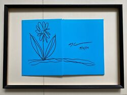 Signed With Flower Drawing - Jeff Koons Jeffkoons