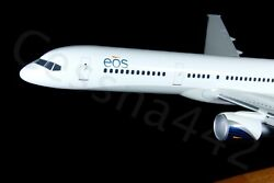 Pacmin Eos Airline Boeing 757-200 Aircraft Model 1100 N926js Wood Base Gift