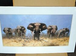 Just Elephants By David Shepherd Signed Limited Edition Very Rareandnbsp