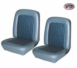 1968 Mustang Fastback Front And Rear Seat Upholstery - Blue - Made By Tmi