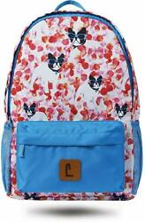 Staples Paxton 16quot; Backpack French Bull Dogs Pattern 4.72quot;W x 16.14quot;H x 11.81quot; $35.99