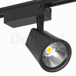 10pcs Modern Led Track Light Black 30w 3000k 3100lm Cob Office Home Showroom