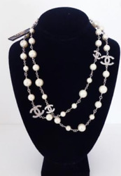 Mint Grey Pearl Necklace