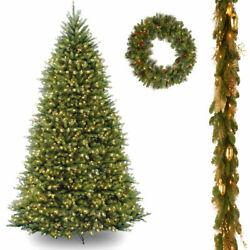 10' Dunhill Fir Hinged Tree includes Clear Lights with 6' x 12