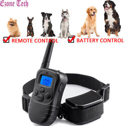 No Bark Dog Shock Training Collar Remote Battery Control Waterproof Rechargeable