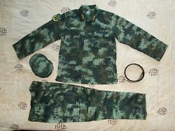 16's China Armed Police Force Officer Woodland Digital Camo Combat Jacket, Pants