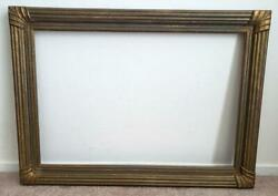 Antique 1900-1920 Art And Crafts Gesso 19 1/4 X 28 1/4 Picture Frame Painting