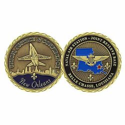 Us Navy Naval Air Station Joint Reserve Base New Orleans Challenge Coin Cc-1770