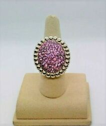 Slane And Slane Pave Nuage Sterling Silver Pink Sapphire Ring 4.07tgw Size 7