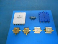 Mini-circuits Zkl-2r7+ Amp, And Other Assorted Splitters/couplers Lot Of 7