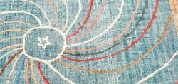 Beautiful Antique Cr1900-1939and039s Wool Pile Teal Blue Oushak Area Rug 6x9ft