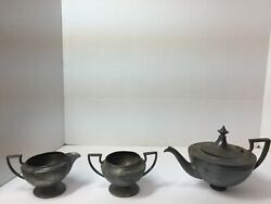 Vintage Forbes Silver Co Tea Coffee Pot Sugar Creamer 3 Piece Set - See Pictures