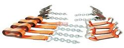 8 Point Tie Down Kit W/ Extensions Stainless Steel Ratchets And High Abrasion W