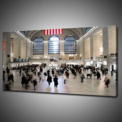 New York Central Station Canvas Picture Print Wall Hanging Art Home Decor