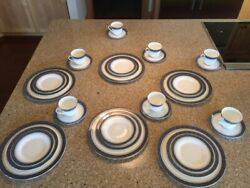 Doultonandnbsp And Co. Fine Bone China H. 5009 Service For 6 Plus Extra Cup And Saucer Andnbsp