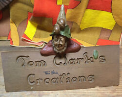 1991 Tom Clark's Creations Sign Gnomes Retired Signed Plus 2 Other Gnomes Nice