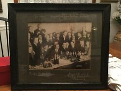 Jack Johnson Vs Jeffries 1909 Contract Signing Pommery Champagne Framed Photo