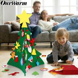 OurWarm DIY Felt Christmas Tree New Year Gifts Kids Toys Artificial Tree