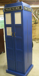 Dr. Who Tardis Bookcase Bookshelf Hand Crafted Solid Wood