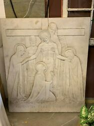The 13th Station Of The Cross Carved In Alabaster Marble