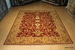 Fine Quality Handmade Vegetable Dyed 8' x 10' Rust Color SERAPY DESIGN