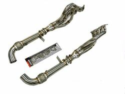 Obx Long Tube Header Fits For 15-21 Mustang Shelby Gt350 Gt350r 1 3/4 X 1 7/8