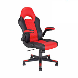 Argos Home Raptor Faux Leather Gaming Chair - Black And Red - Go93.