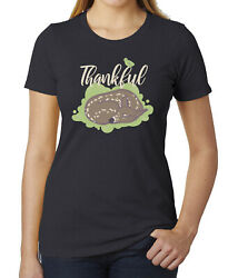 Thankful Baby Deer Womenand039s Thanksgiving Shirts Pretty Tees Shirts For Women