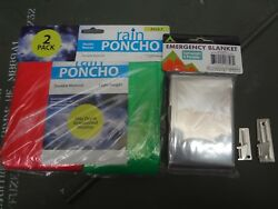 Emergency Blanket Mylar Shelby P-38 P-51 Can Opener Poncho Survival Bug Out Kit