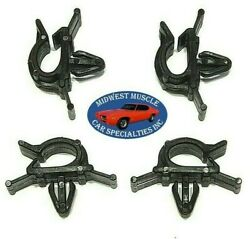 Ford Battery Cable Headlight Dash Horn Wiring Harness Hose Clamp Clips 4pcs H