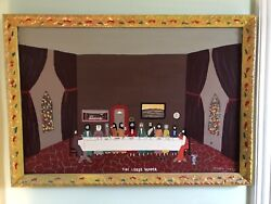 Benny Carter Folk Outsider Art Painting The Lordandrsquos Supper Infinite Last Supper
