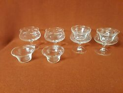 Fine Glass Radio Brand Shrimp Cocktail Glass 2 Pieces Etched Wheat Set Of 4 Nwt
