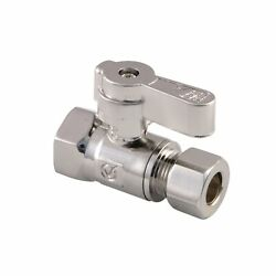 Kingston Brass Kf3315sn 3/8 Fip X 3/8 Od Comp Straight Stop Valve With Lever ...