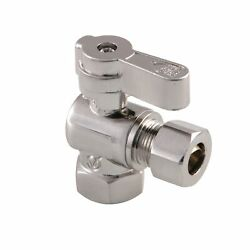 Kingston Brass Kf3310sn 3/8 Fip X 3/8 Od Comp Angle Stop Valve With Lever Han...