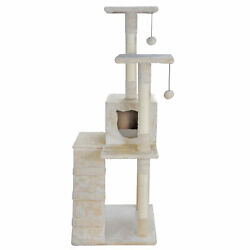 52 inches Sturdy Cat Tree Climbing Tree for Cats Large Anti toppling Devices